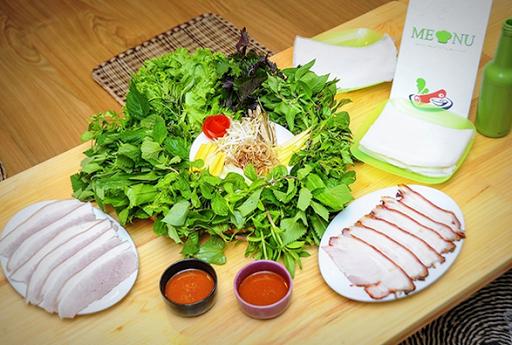 bánh tráng cuốn thịt heo - Đà Nẵng